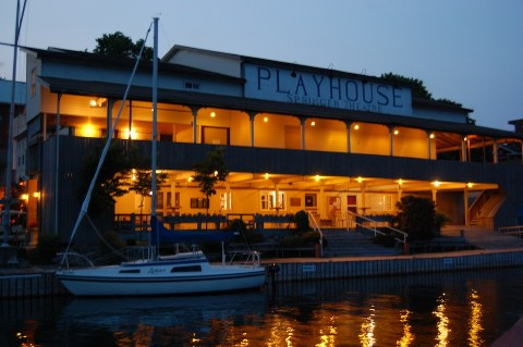 Playhouse after dark